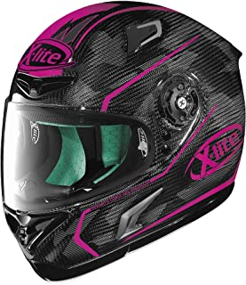 X-Lite X-802RR Ultra Carbon Helmet - Marquetry (LARGE) (CARBON/MAGENTA)