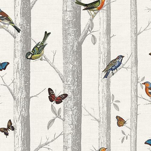 Birds And Butterflies Wallpaper Amazon Co Uk