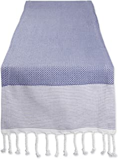 DII Woven Table Runner, Cotton, French Blue, 15x72-inch