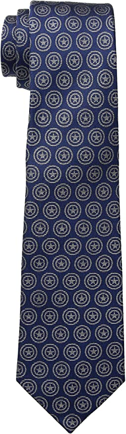 Captain America Shield Blue Tie