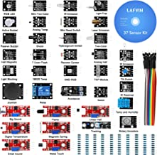 LAFVIN 37 in 1 Sensor Module Kit for Arduino for UNO R3 Mega2560 Mega328 Nano with Tutorial
