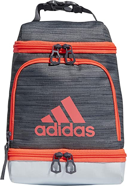 Amazon.com: adidas Excel Insulated Lunch Bag, Grey/Sky Blue/Pink ...