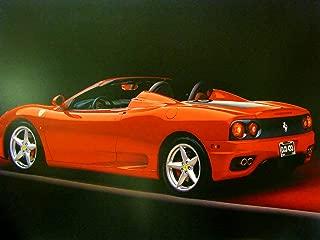 Ferrari Car Wall Decor Picture Red Sports Racing Car Art Print Poster (16x20)