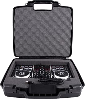 CASEMATIX Protective DJ Controller Carry Case For Numark Party Mix Starter Mixer – Built in Travel Handle , Padded Foam , Hard Shell Exterior