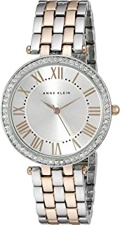 Anne Klein Women's AK/2231SVRT Swarovski Crystal-Accented Two-Tone Bracelet Watch