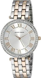 Anne Klein Women's AK/2231SVRT Swarovski Crystal-Accented Two-Tone Bracelet Watch