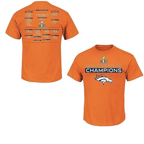 Denver Broncos Super Bowl 50 Champs Championship Way Orange T-shirt b57fb17be