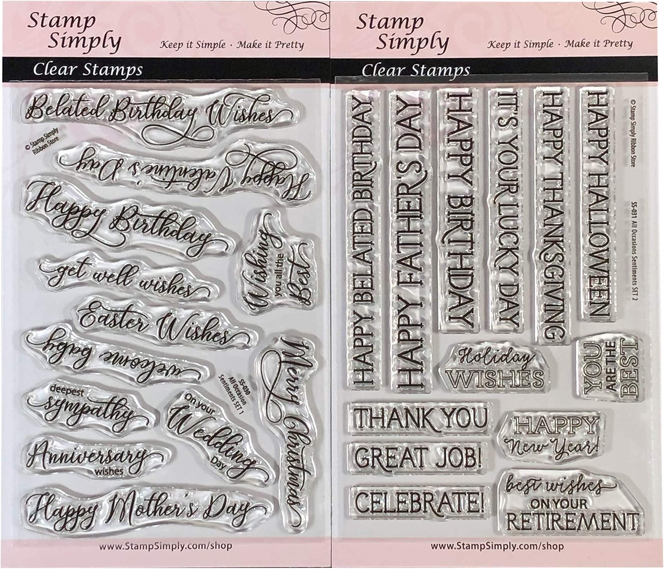 Sentiments clear stamps Phrases 13 pieces Sentiments  Acrylic Stamp set clear stamps