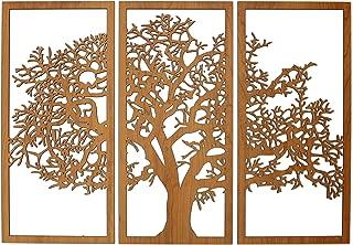 Skyline Workshop Tree of Life Cherry - 3 Panel Wood Wall Art - Beautiful Living Room Decor - Stunning Modern Art