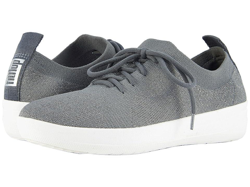 FitFlop F-Sporty Uberknit Sneakers (Charcoal/Metallic Pewter) Women