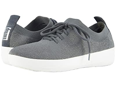 FitFlop F-Sporty Uberknit Sneakers (Charcoal/Metallic Pewter) Women
