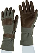 Ansell ActivArmr Mission Critical Gear 46-405 Leather Combat Glove, Fire/Cut Resistant, Kevlar Backing, Extended Cuff, X-Large (Pack of 1 Pair)