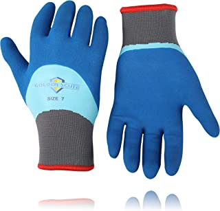 Golden Scute Freezer Winter Work Gloves,Fleece-Lined with Tight Grip Palms -Cold Temperatures, 2 pairs (Large/Size 9)