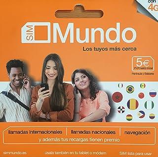 TARJETA SIM PREPAGO ORANGE MUNDO 5€ DE SALDO