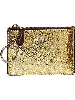 코치 파우치 COACH Mini ID Skinny,Gold/Silver
