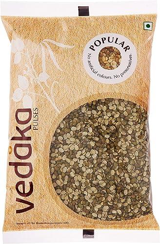 Amazon Brand Vedaka Popular Green Moong Split Chilka 500g
