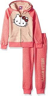 Hello Kitty 女童丝绒套装带亮片贴花