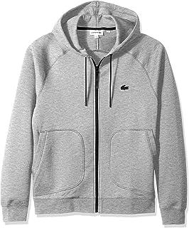 Lacoste Men's Long Sleeve Milano UNI Sweatshirt Sweater, Silver Chine, L