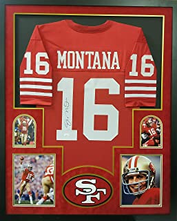 5af3f1e65 Joe Montana San Francisco 49ers Autograph Signed Custom Framed Jersey Red 4  Picture JSA Witnessed Certified