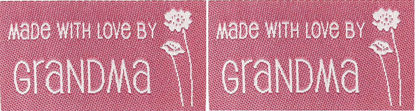 Iron-On Lovelabels 4/Pkg-Made With Love By Grandma (2 Pack)