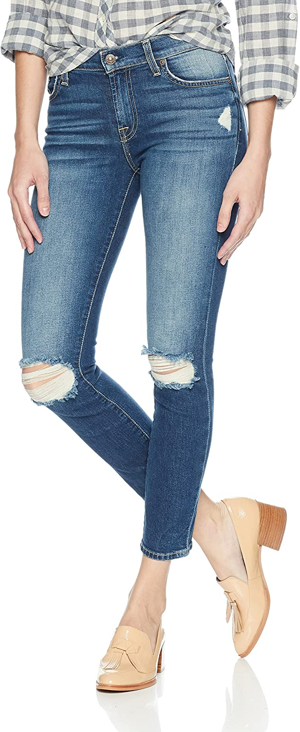 7 For All Mankind Women's Roxanne Ankle Jean with Destroy