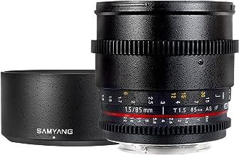 Samyang SYCV85M-N 85mm T1.5 Cine Fixed Lens for Nikon VDSLR
