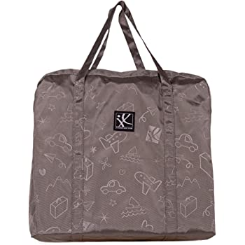 J.L. Childress DELUXE Booster Go-Go Travel Bag for Backless Booster Seats, Infant Seats & Micro-Folding Strollers, Grey
