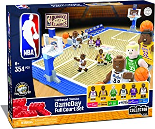 KNEX NBA - GameDay Full Court Set - Hardwood Classics Edition Building Set-Lakers-Great Gift for Boys & Dad-Featuring Shaq...
