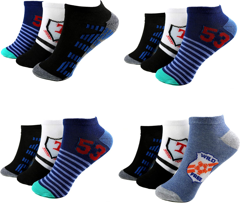 5 Paar Kinder Jungen Mädchen Socken  Baumwolle  23-38 Bunt  Neu #K26