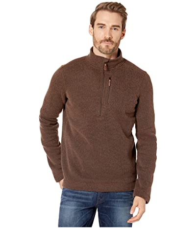 Smartwool Hudson Trail Fleece 1/2 Zip Sweater (Bourbon Heather) Men