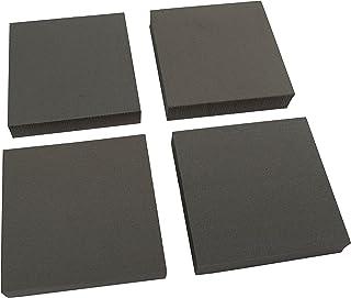 """وسائد معدات عالية التحمل من XCEL، وسادات أثاث مضادة للاهتزاز مانعة للانزلاق، 4"""" x 4"""" x 3/4"""" سميكة (مجموعة من 4)"""