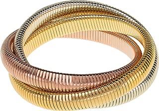 Janis Triple Cobra Bracelet - High Polished Yellow Gold, Rose Gold, and Rhodium