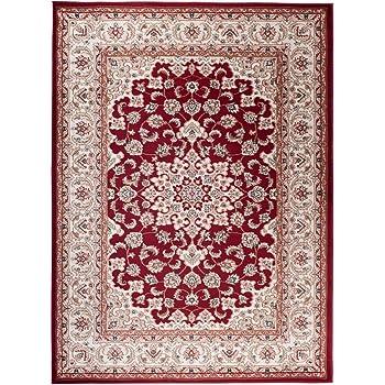 TAPISO Colorado Tappeto Salotto Moderno Soggiorno Rosso Motivo Floreale Orientale Tradizionale 60 x 100 cm