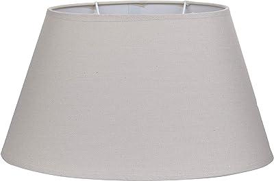 Better & Best Oval Taupe Abat-jour en lin, forme ovale, 35 cm, couleur, dimensions inférieures : 35 x 22 cm, diamètre supérieur : 23 x 13 cm, hauteur : 19 cm