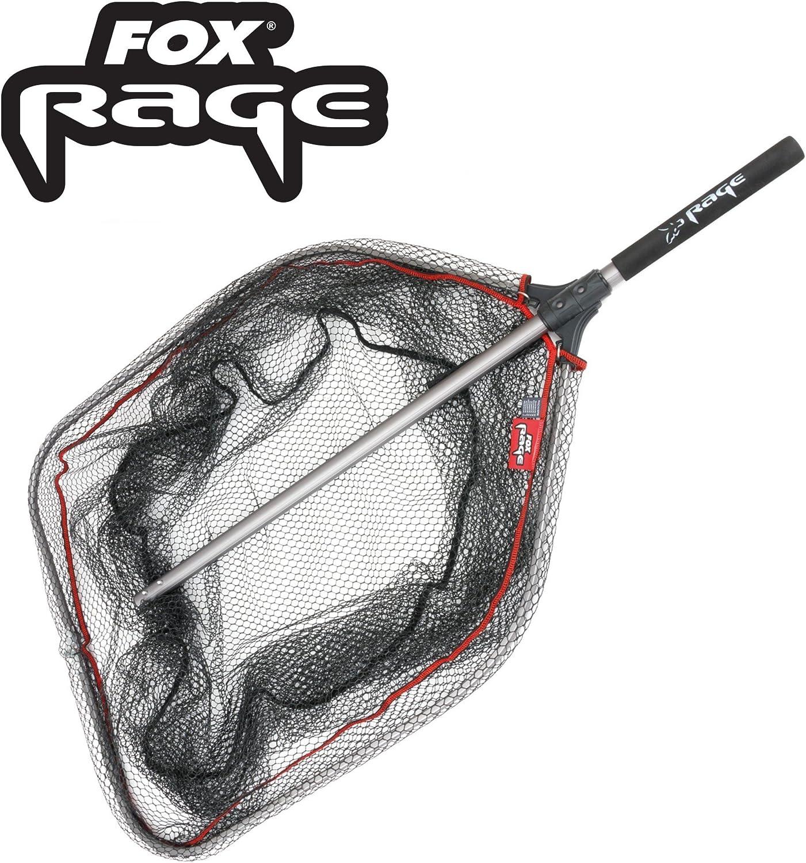 Fox Rage Speedflow II foldable Large Net 70x70cm - Faltbarer Kescher zum Spinnfischen, Unterfangkescher, Hechtkescher Fischkescher