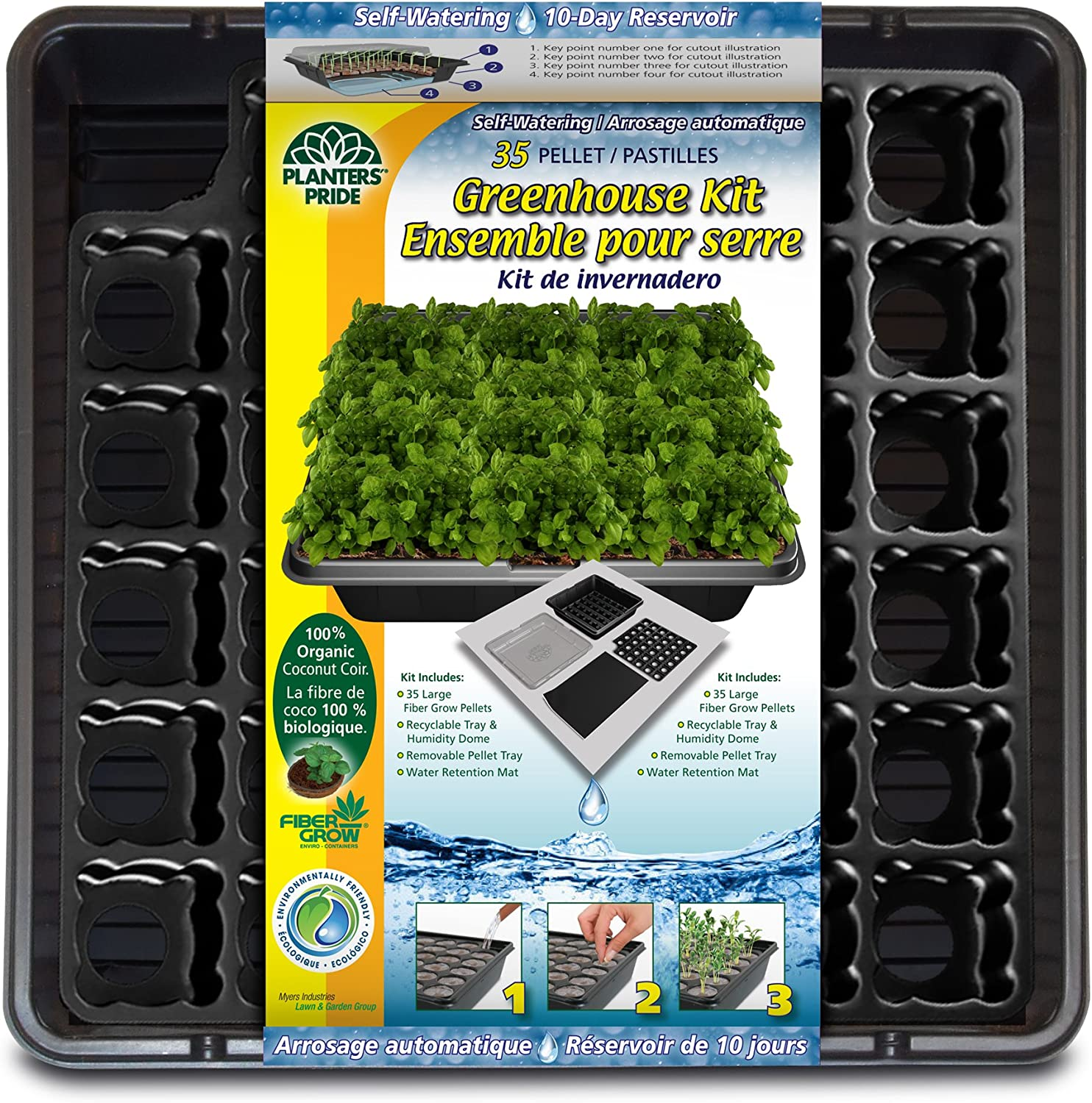 Planters Pride Special price for a limited time 35 Coconut Coir Popular product Greenhouse Pellet K Self-Watering