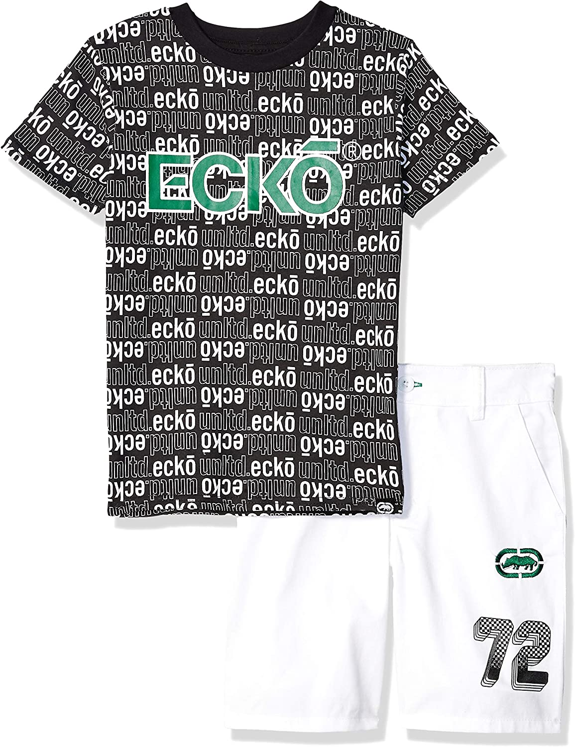 Quantity limited Marc Ecko boys Short Sleeve All and T-shirt Logo Set Over Super beauty product restock quality top!