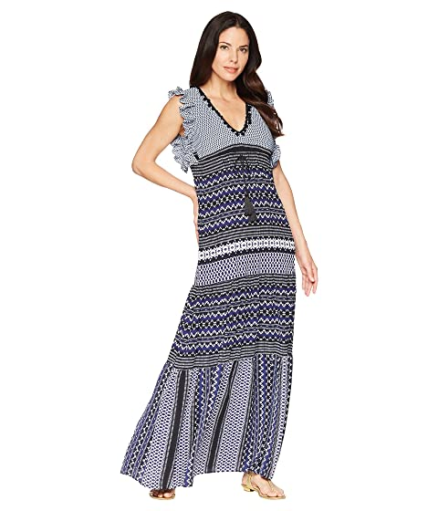 7c4370377a2 Taylor Mixed Print V-Neck Maxi Dress at 6pm