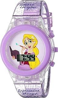 Disney Girl's Quartz Plastic Casual Watch, Color:Purple (Model: TTV4003)