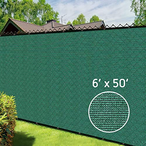 popular VIVOSUN online 6' x 50' Green Fence Privacy Screen Heavy Duty Fencing outlet sale Mesh Shade Net with Bindings and Grommets for Outdoor Yard Wall Garden Backyard outlet online sale