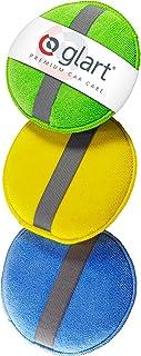 Glart 43PP Almohadillas de Pulido de Microfibra Con La Banda de Caucho, Set de 3, Azul/Verde/Amarillo, 130 x 25 mm, 4