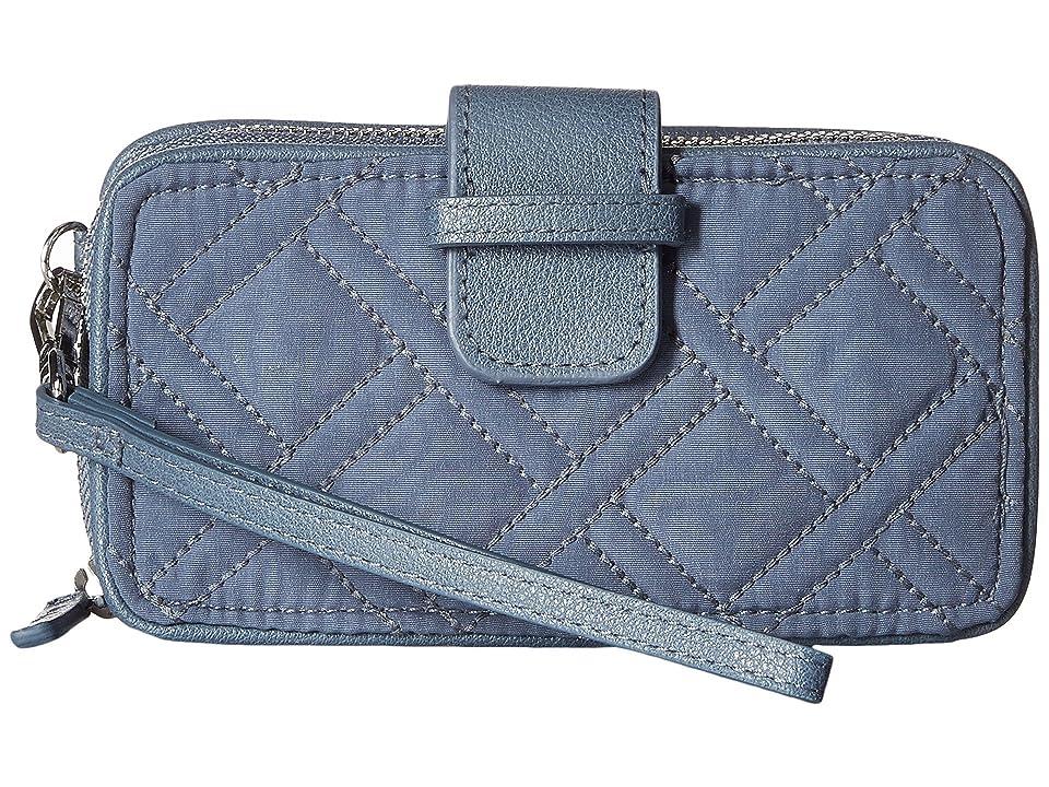 Vera Bradley RFID Smartphone Wristlet (Charcoal) Wristlet Handbags
