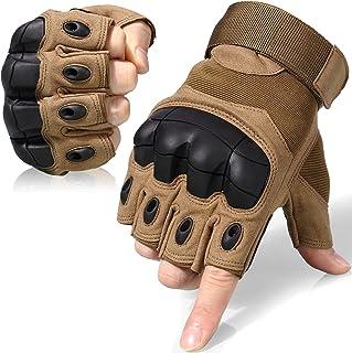 WTACTFUL Fingerless Gloves for Motorcycle Motorbike Cycling Biker Climbing Camping ATV Riding Driving Racing Hiking Huntin...