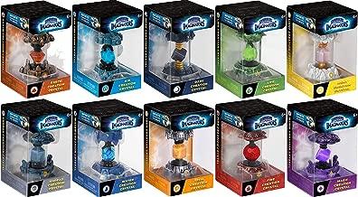 Skylanders Imaginators 10-Creation Complete Crystal Set - Undead Lantern, Dark Pyramid, Air Angel, Light Rune, Earth Rocket, Life Rocket, Fire Acorn, Magic Lantern, Water Rocket & Tech Armor Bundle
