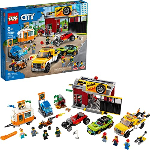 lowest LEGO City Tuning Workshop Toy lowest Car Garage 60258, Cool Building Set for Kids, New 2020 (897 popular Pieces) outlet sale