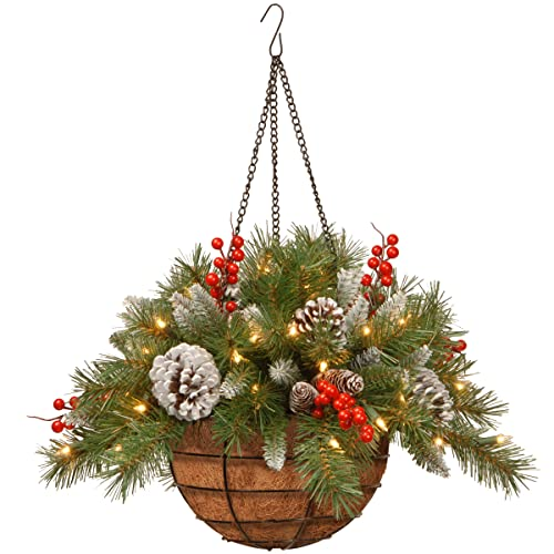 Christmas Hanging Baskets With Lights.Christmas Hanging Basket Amazon Com