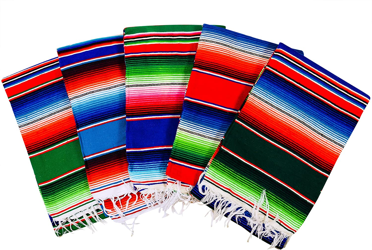 MEXIMART's Authentic Medium Mexican Blankets Bla New Shipping Free Fresno Mall Colorful Serape