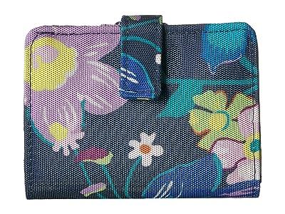 Vera Bradley Lighten Up RFID Small Wallet (Firefly Garden) Wallet Handbags