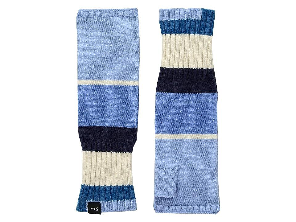 Echo Design Active Stretch Color Block Fingerless Gloves (Echo Navy) Wool Gloves