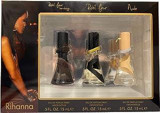 Rihanna Fragancia Collection de Rihanna para Mujer - 3 piezas Mini Set de regalo de 15 ml Rebl Fleur Love Always